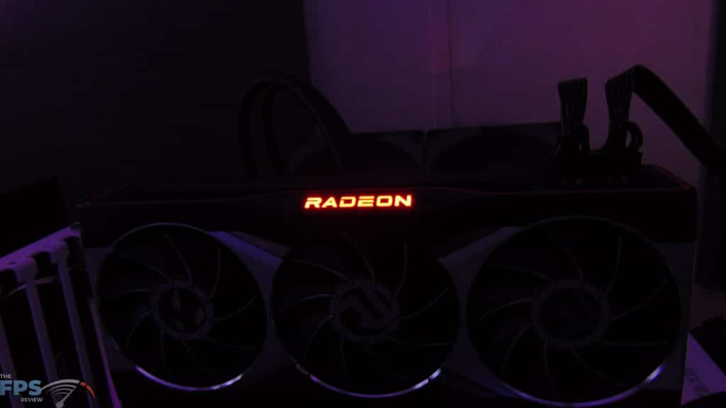 AMD Radeon RX 6900 XT Video Card Red Radeon LED Logo
