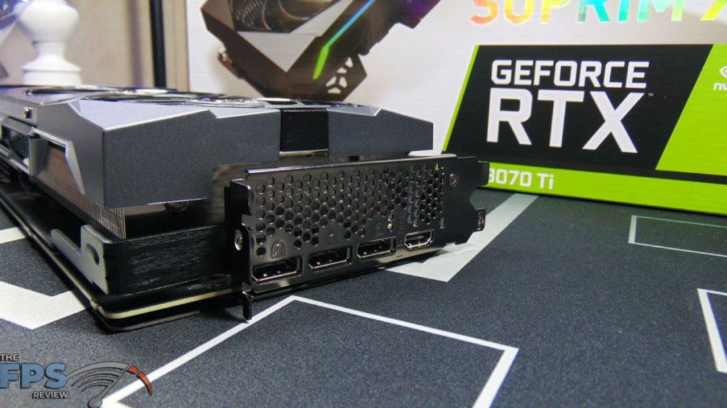 MSI GeForce RTX 3070 Ti SUPRIM X 8G Display Ports