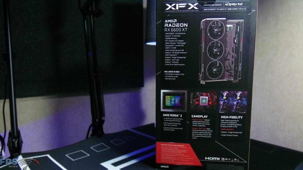 XFX SPEEDSTER MERC 308 Radeon RX 6600 XT Black Box Back