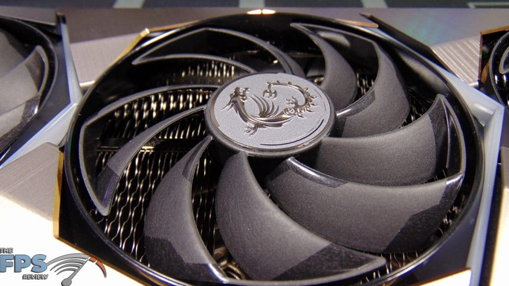 MSI GeForce RTX 3070 Ti SUPRIM X 8G Closeup of Fan