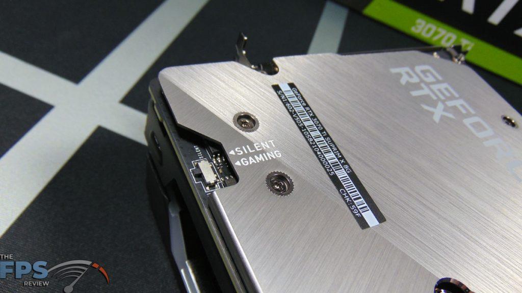 MSI GeForce RTX 3070 Ti SUPRIM X 8G Dual BIOS Switch
