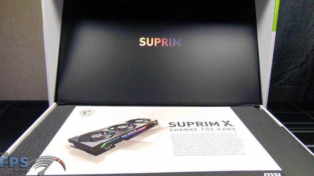 MSI GeForce RTX 3070 Ti SUPRIM X 8G Inside Box