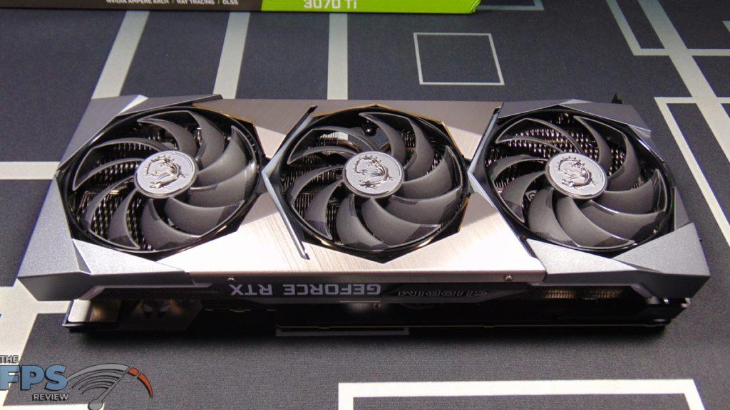 MSI GeForce RTX 3070 Ti SUPRIM X 8G Video Card Top View