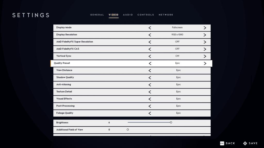Godfall Epic Quality Preset Screenshot