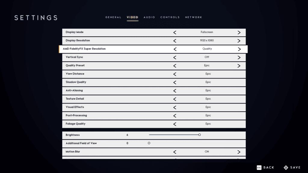 Godfall Quality FSR Graphics Settings Screenshot