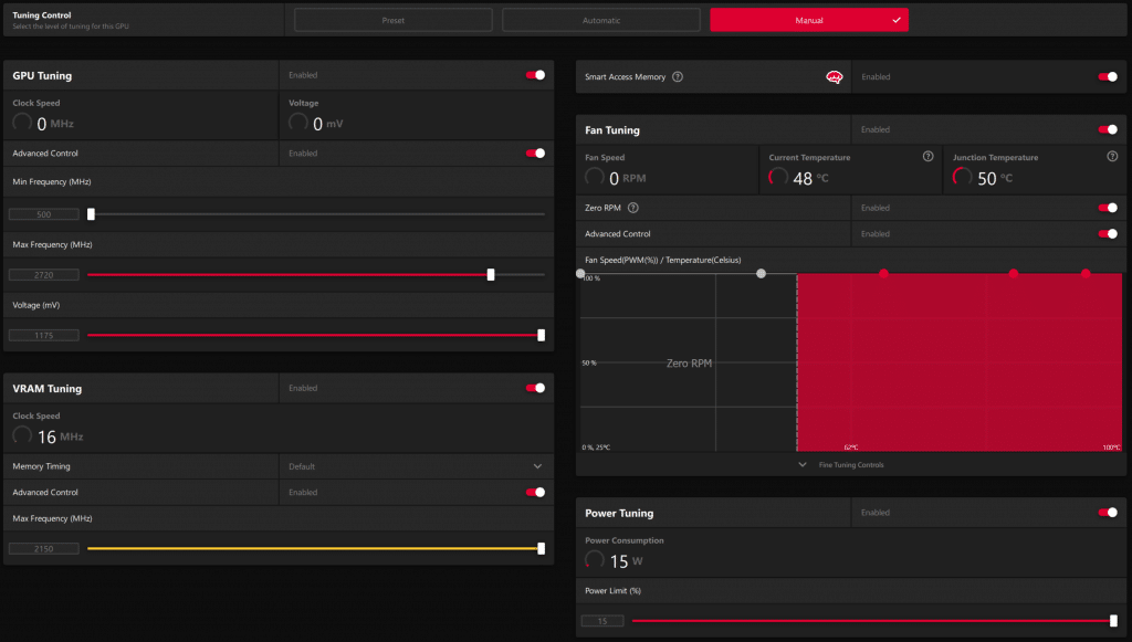 AMD Radeon RX 6900 XT Radeon Software Performance Tuning Overclock
