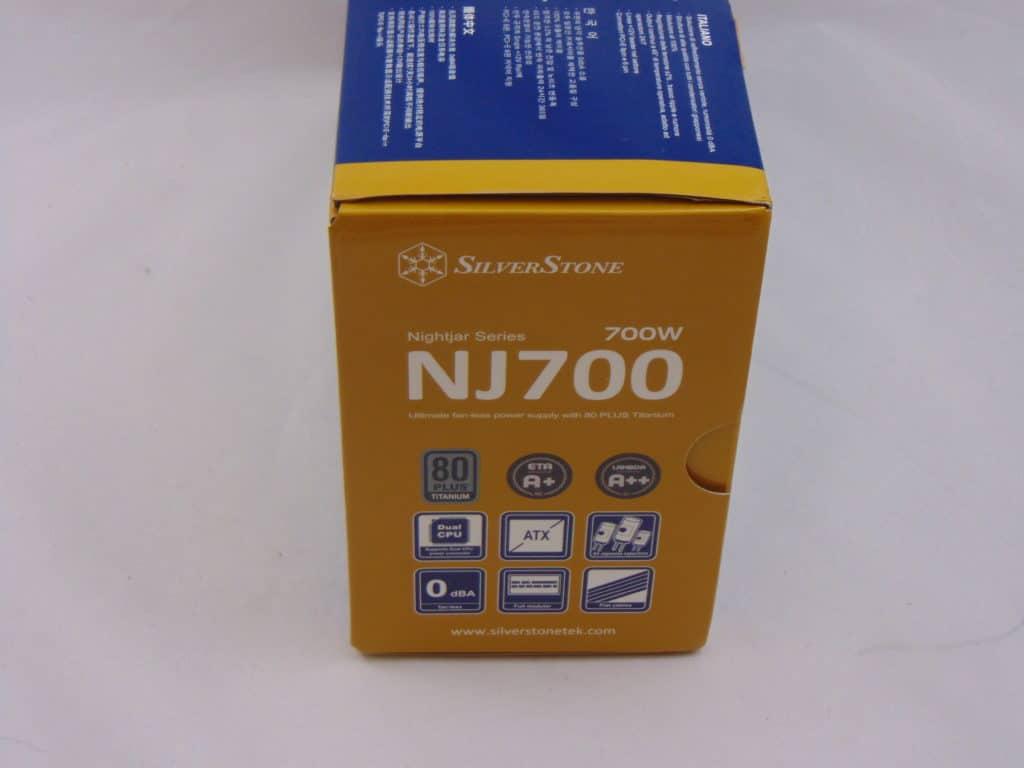 SilverStone NJ700 700W Fanless Power Supply side box