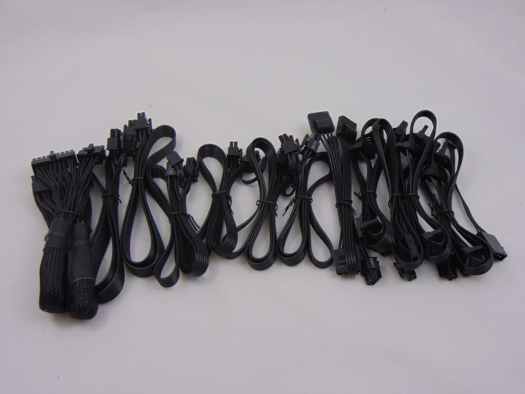 SilverStone NJ700 700W Fanless Power Supply cables