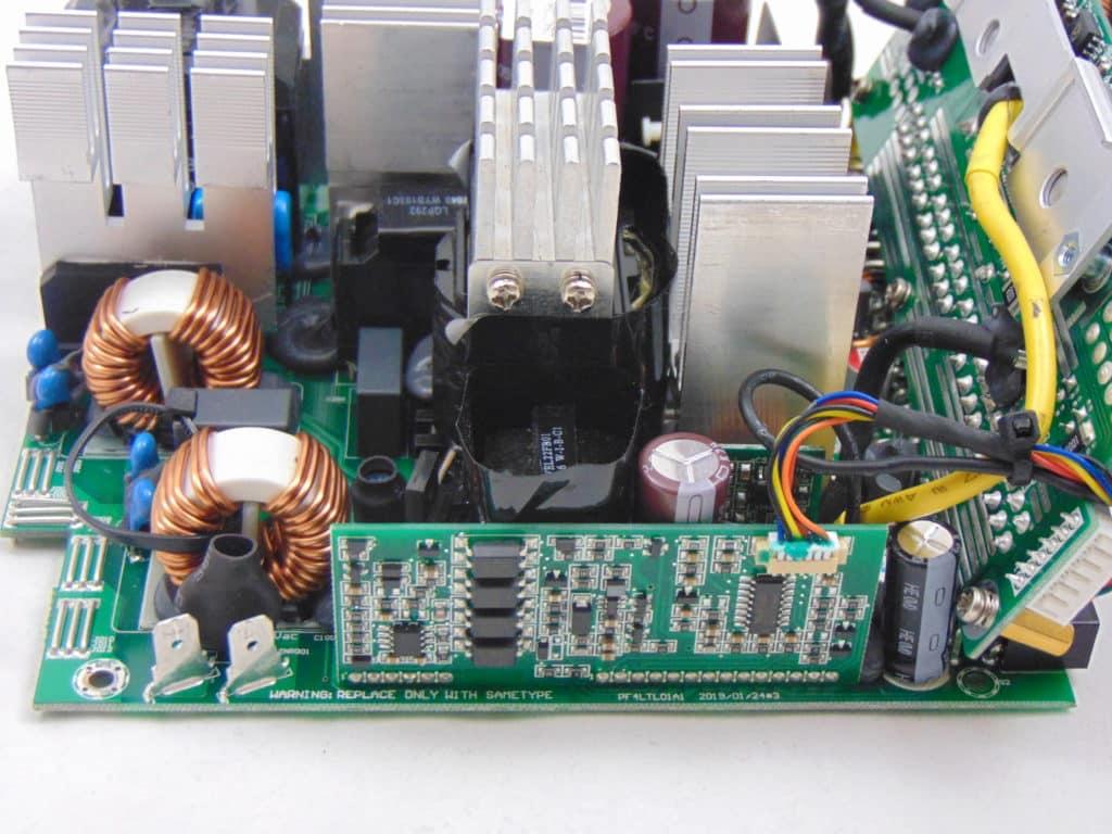 SilverStone NJ700 700W Fanless Power Supply capacitors inside