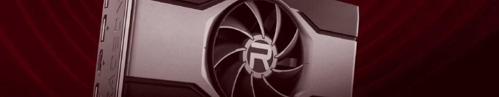 AMD Radeon RX 6600 XT Rendering Fan with R Logo