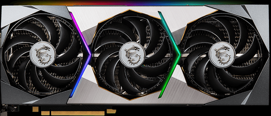 MSI GeForce RTX 3070 Ti SUPRIM X 8G Front View