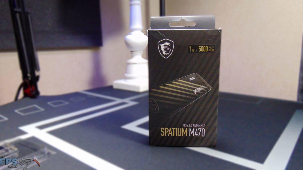 MSI SPATIUM M470 1TB PCIe 4.0 Gen4 NVMe SSD Box Front
