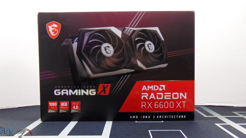 MSI Radeon RX 6600 XT GAMING X Video Card Box Front
