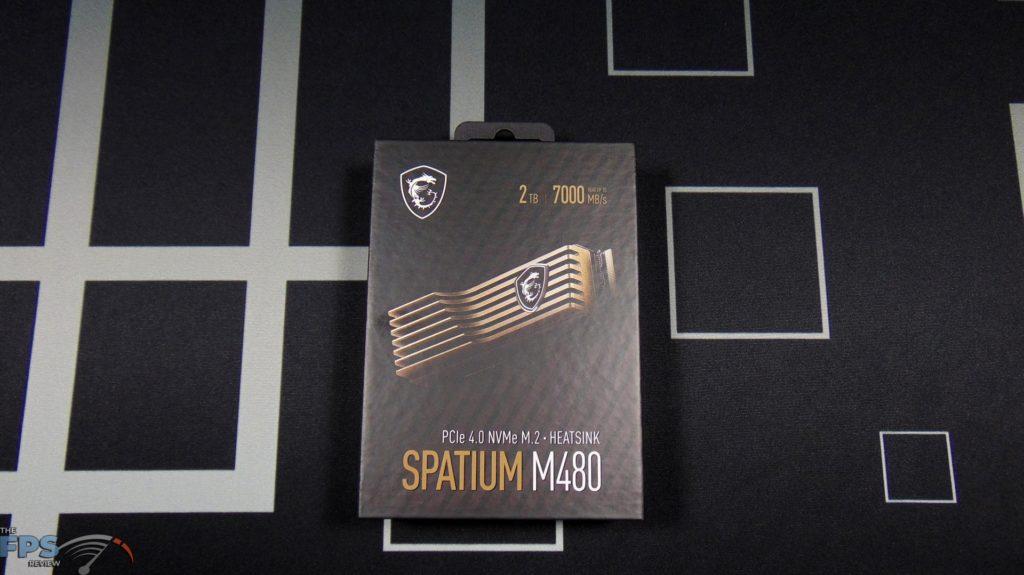 MSI SPATIUM M480 2TB HS PCIe 4.0 Gen4 NVMe SSD Box Front