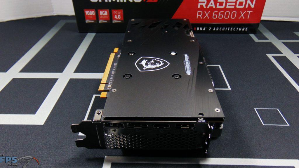 MSI Radeon RX 6600 XT GAMING X Video Card Bottom View