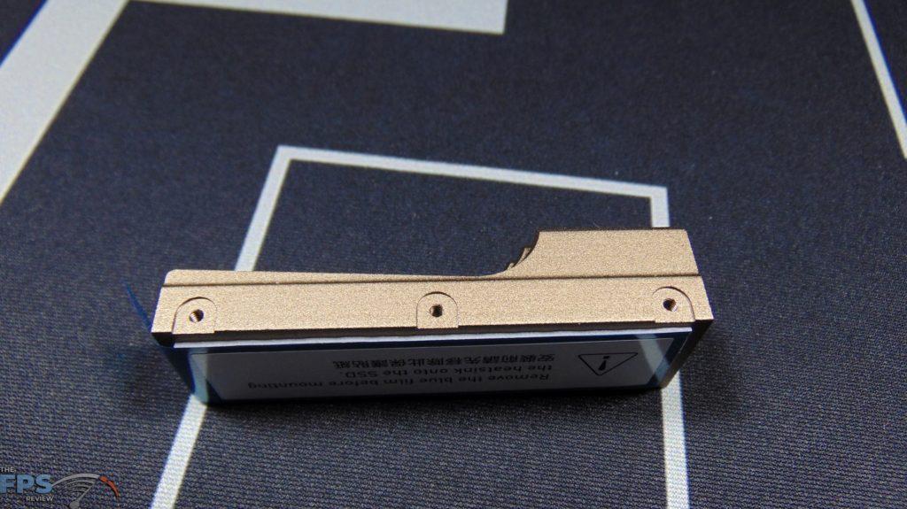 MSI SPATIUM M480 2TB HS PCIe 4.0 Gen4 NVMe SSD Side of Heatsink Screw Holes