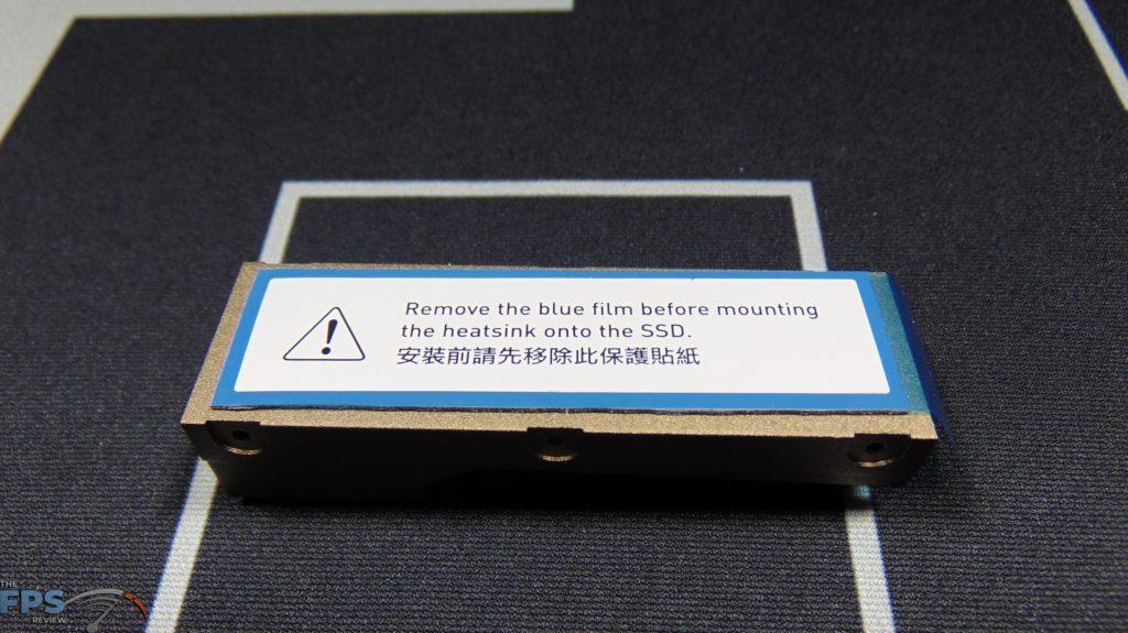 MSI SPATIUM M480 2TB HS PCIe 4.0 Gen4 NVMe SSD Thermal Pad Warning Label