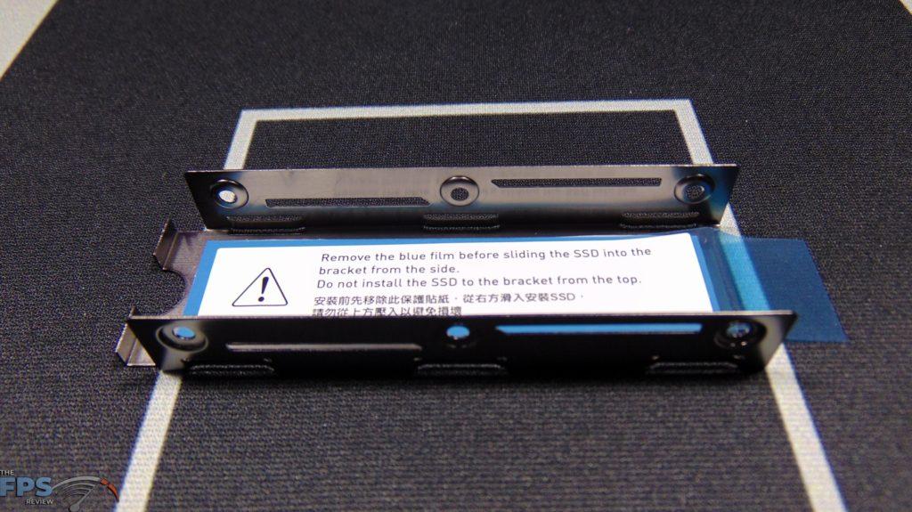 MSI SPATIUM M480 2TB HS PCIe 4.0 Gen4 NVMe SSD Heatsink Thermal Pad Warning Label