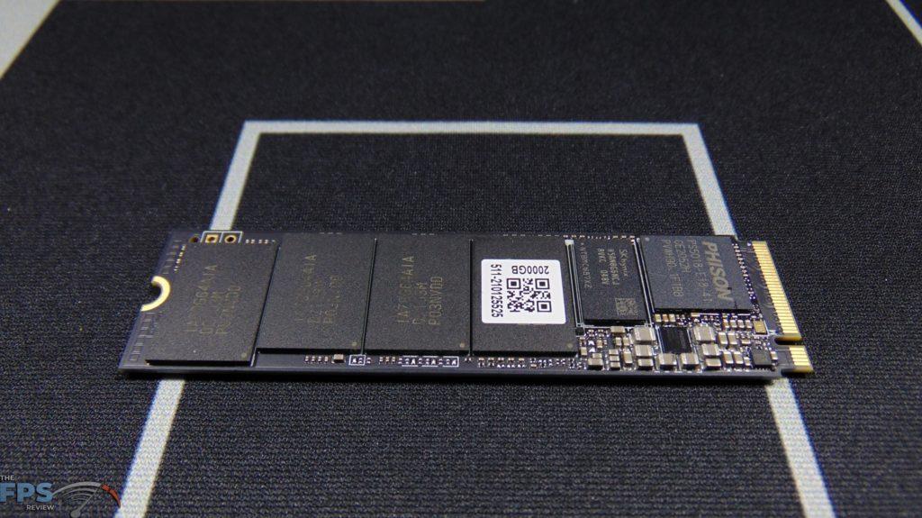 MSI SPATIUM M480 2TB HS PCIe 4.0 Gen4 NVMe SSD Top View Bare Drive