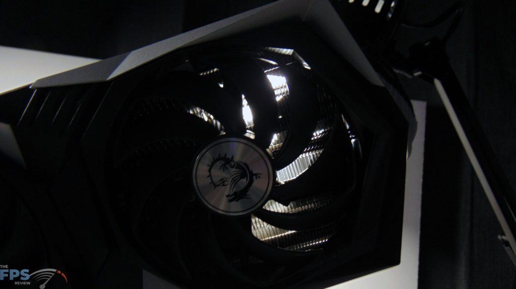 MSI Radeon RX 6600 XT GAMING X Video Card Light Shinning Through Airflow Passthrough