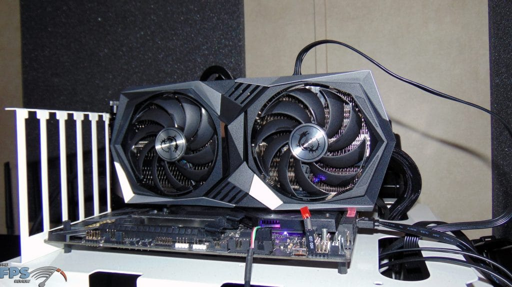 MSI Radeon RX 6600 XT GAMING X Video Card Installed in Computer