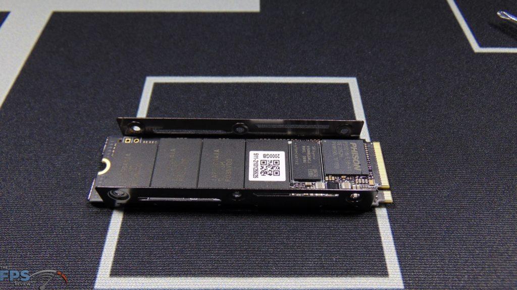 MSI SPATIUM M480 2TB HS PCIe 4.0 Gen4 NVMe SSD Installed in Bottom Heatsink
