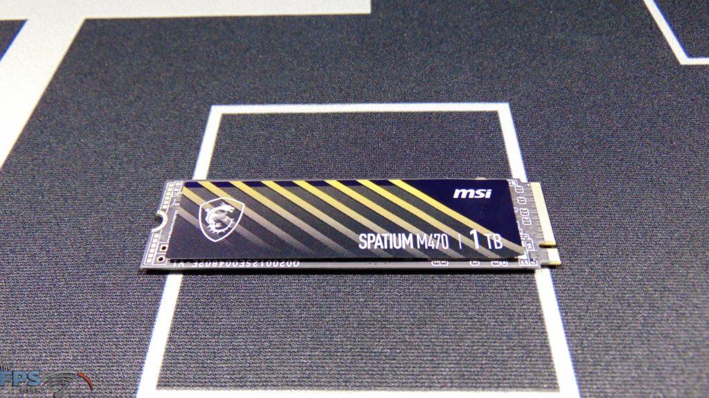 MSI SPATIUM M470 1TB PCIe 4.0 Gen4 NVMe SSD Top View