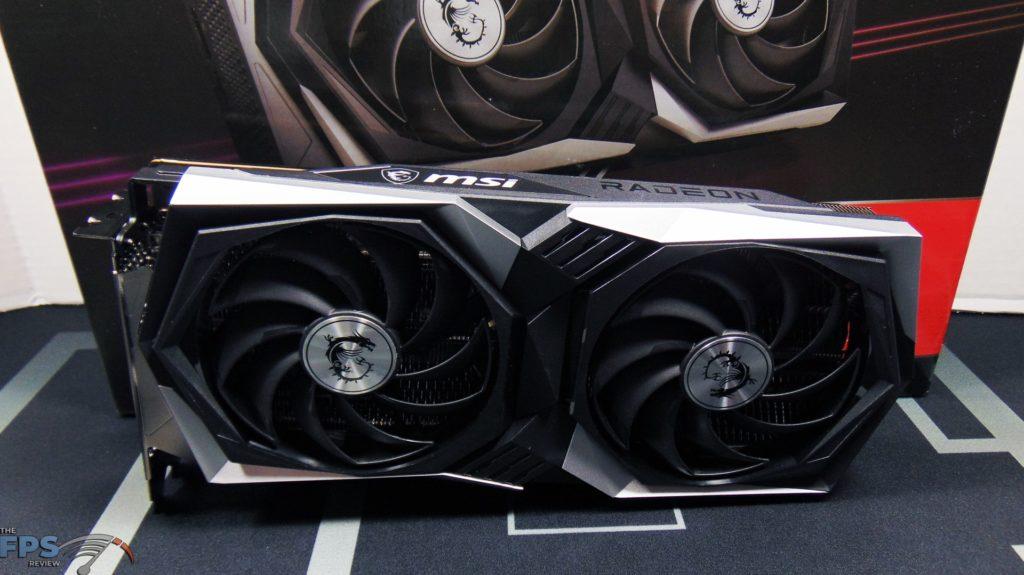 MSI Radeon RX 6600 XT GAMING X Video Card Box and Card Top