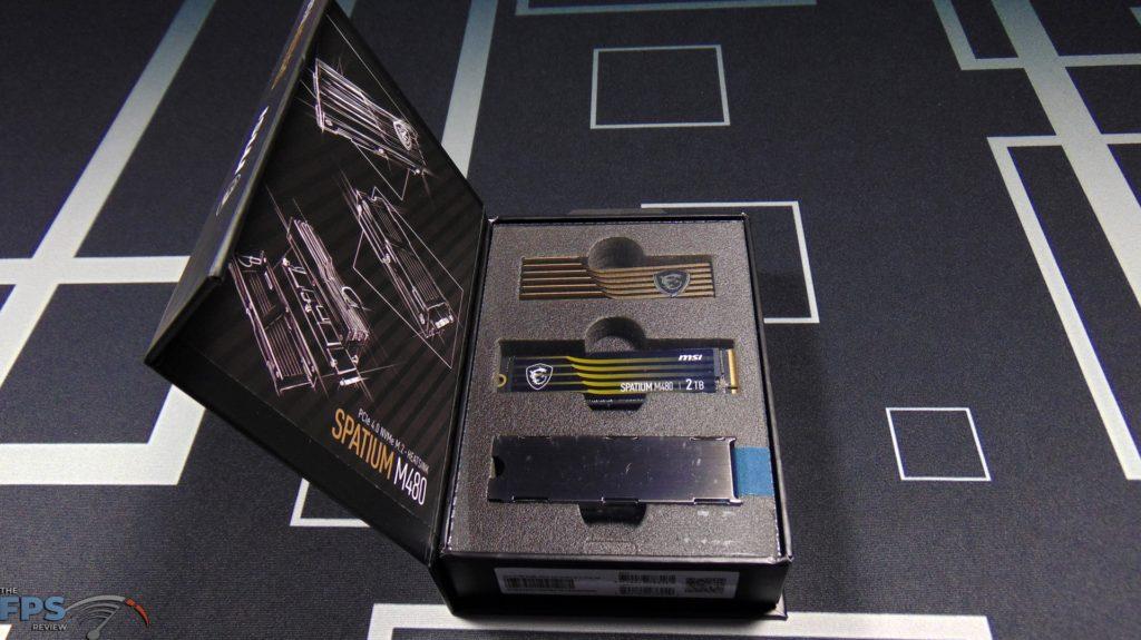 MSI SPATIUM M480 2TB HS PCIe 4.0 Gen4 NVMe SSD Inside Box