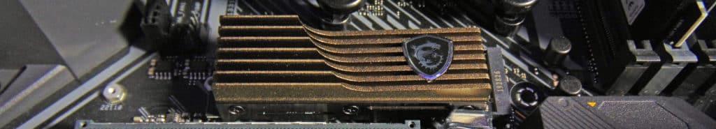 ASUS TUF GAMING X570-PLUS WI-FI Motherboard M.2_1 socket with MSI SPATIUM 2TB SSD installed