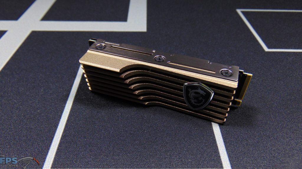 MSI SPATIUM M480 2TB HS PCIe 4.0 Gen4 NVMe SSD and Heatsink Top View