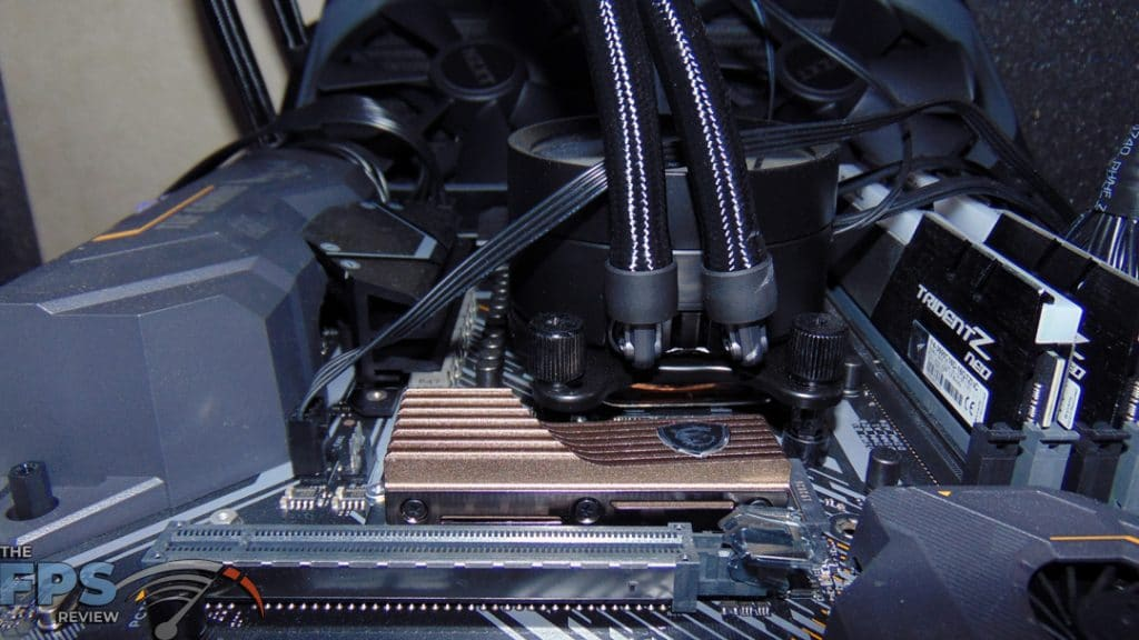 MSI SPATIUM M480 2TB HS PCIe 4.0 Gen4 NVMe SSD Installed in Computer