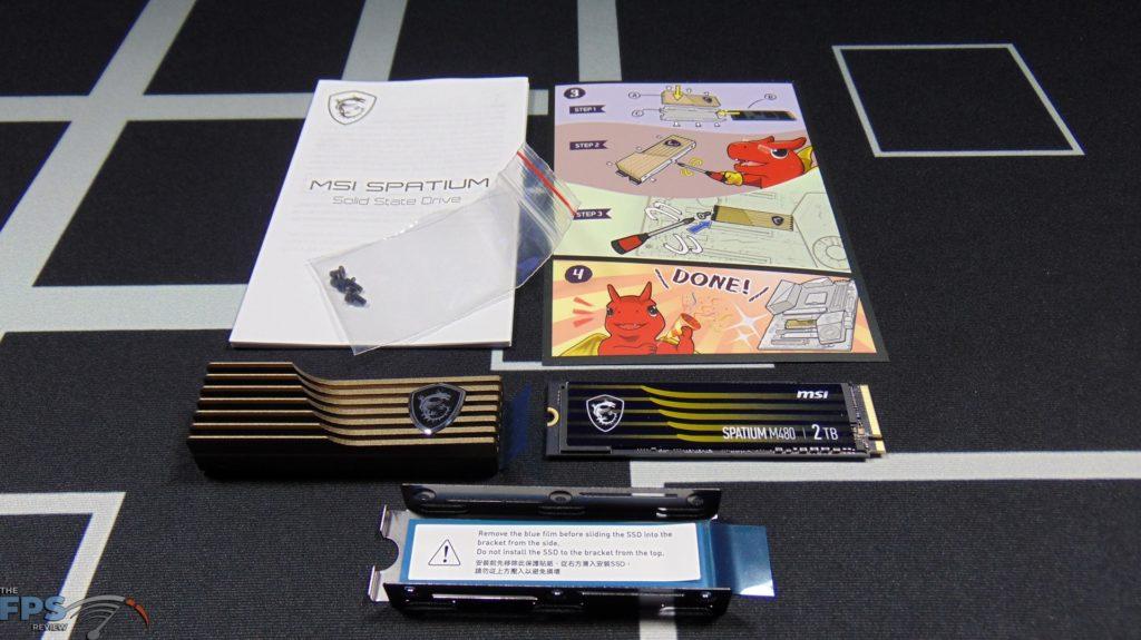 MSI SPATIUM M480 2TB HS PCIe 4.0 Gen4 NVMe SSD Box Contents