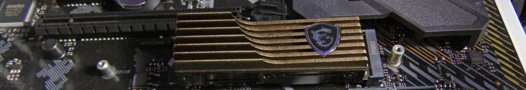 ASUS TUF GAMING X570-PLUS WI-FI Motherboard M.2_2 socket with MSI SPATIUM 2TB SSD installed