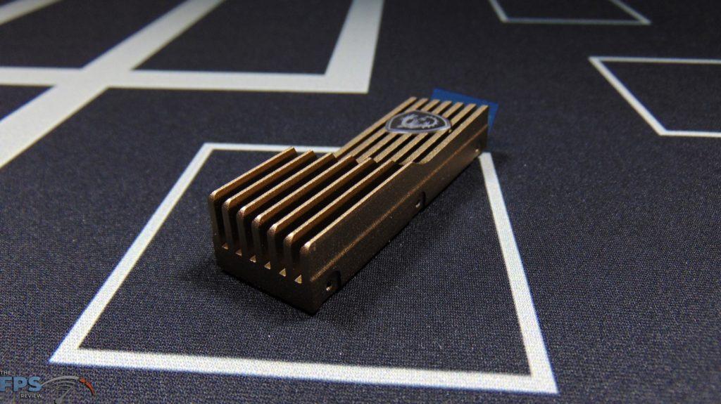 MSI SPATIUM M480 2TB HS PCIe 4.0 Gen4 NVMe SSD Top of Heatsink Angled