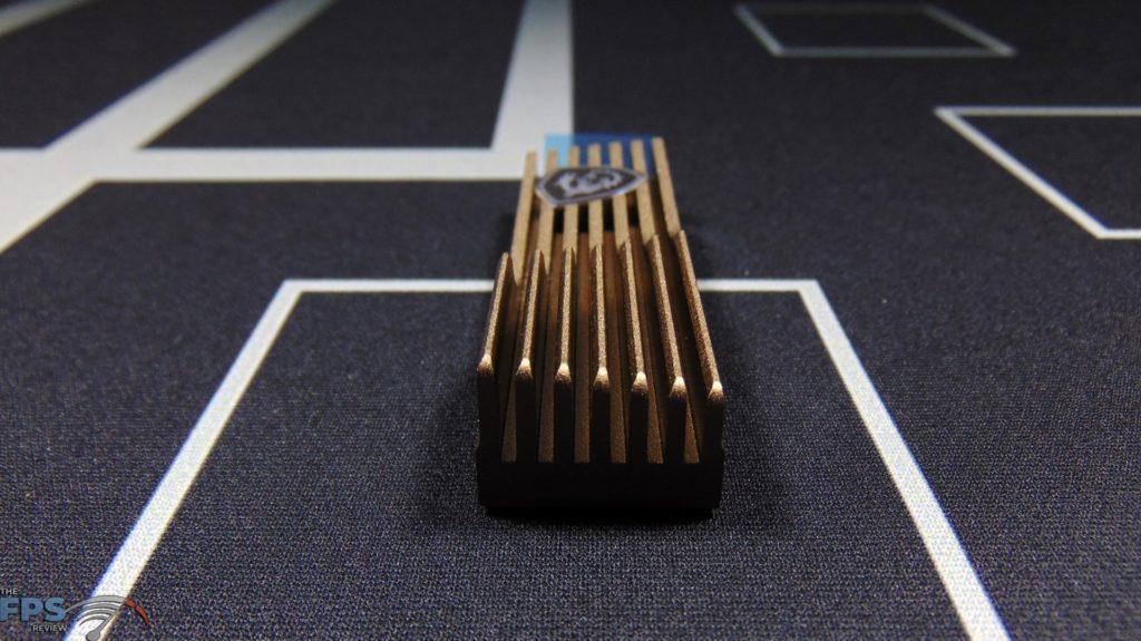 MSI SPATIUM M480 2TB HS PCIe 4.0 Gen4 NVMe SSD Top of Heatsink Fins