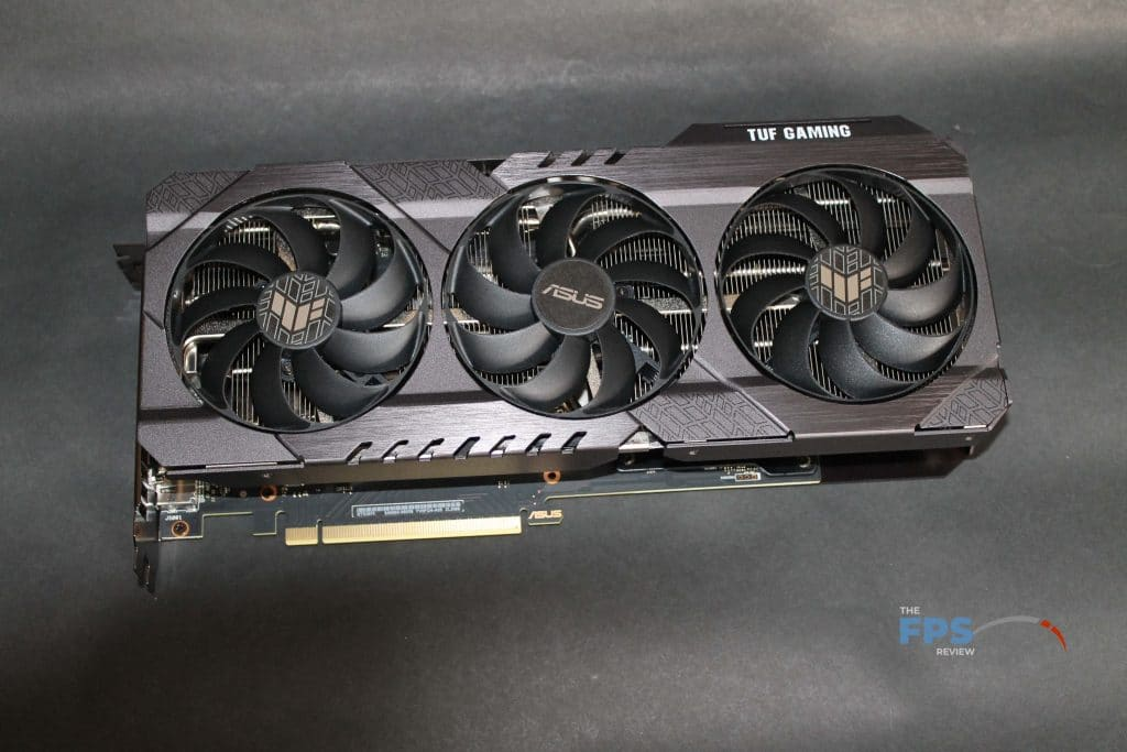 ASUS RTX 3070 TUF GAMING OC top down view