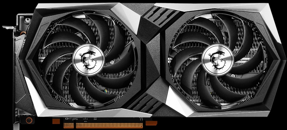 MSI Radeon RX 6600 XT GAMING X Video Card Front View