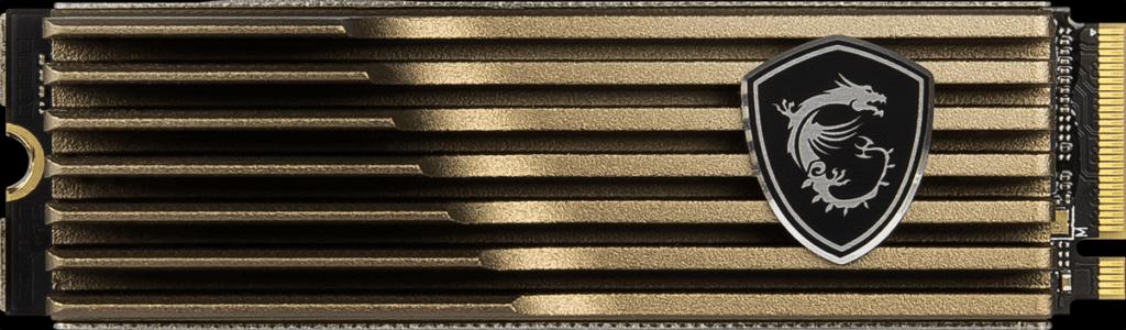 MSI SPATIUM M480 2TB HS PCIe 4.0 Gen4 NVMe SSD Top View