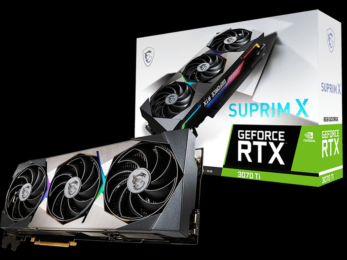 MSI GeForce RTX 3070 Ti SUPRIM X 8G Video Card and Box