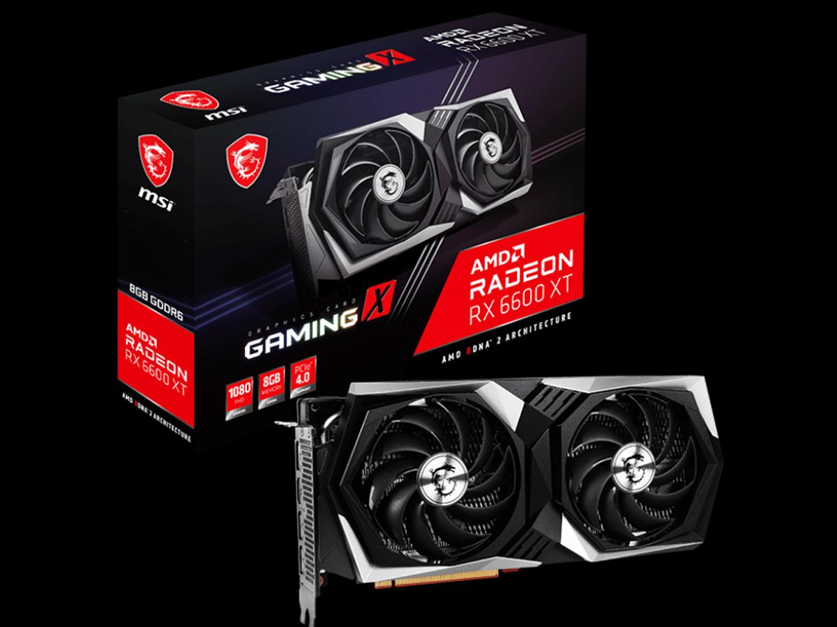 MSI Radeon RX 6600 XT GAMING X Video Card and Box