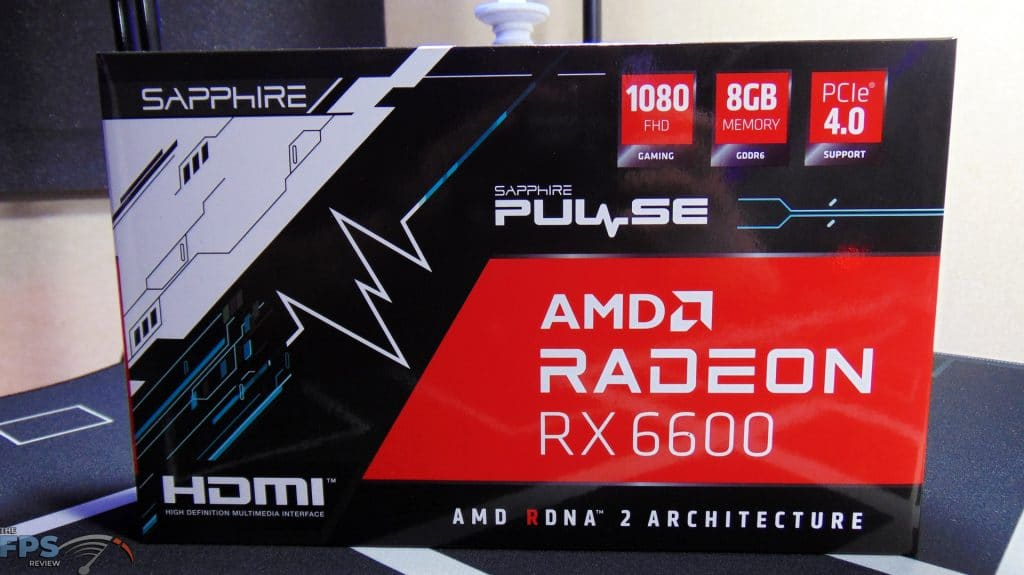 SAPPHIRE PULSE Radeon RX 6600 GAMING Video Card Box Front