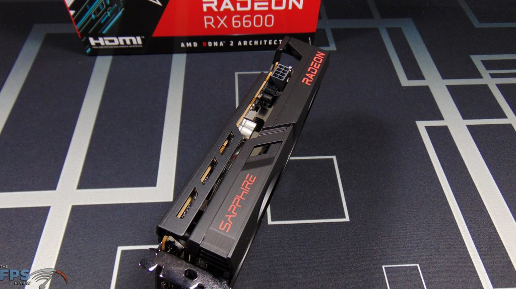 SAPPHIRE PULSE Radeon RX 6600 GAMING Video Card Top Edge View