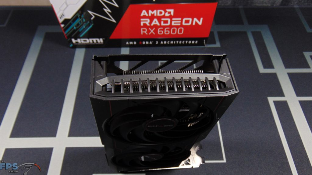 SAPPHIRE PULSE Radeon RX 6600 GAMING Video Card Back End View