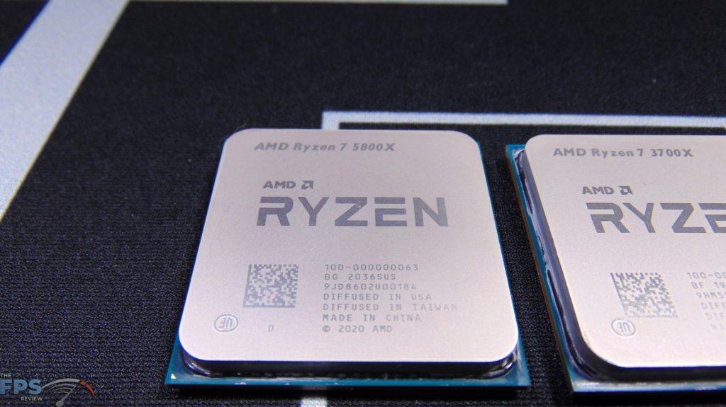 Closeup of AMD Ryzen 7 3700X CPU Top View