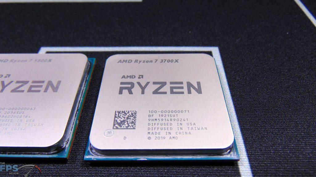 Closeup of AMD Ryzen 7 5800X CPU Top View