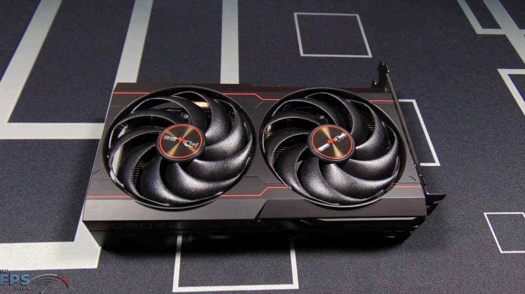 SAPPHIRE PULSE Radeon RX 6600 GAMING Video Card Top View