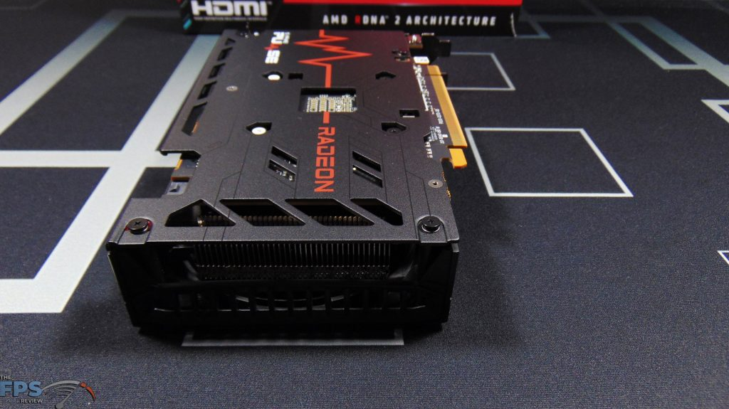 SAPPHIRE PULSE Radeon RX 6600 GAMING Video Card Back View