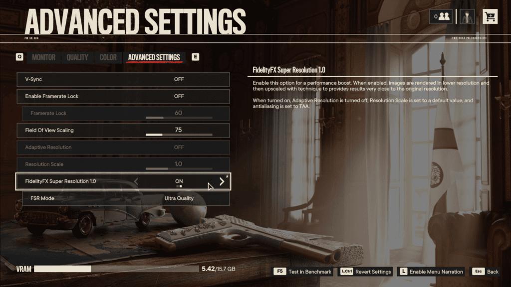 Far Cry 6 AMD FidelityFX Super Resolution FSR Graphics Menu