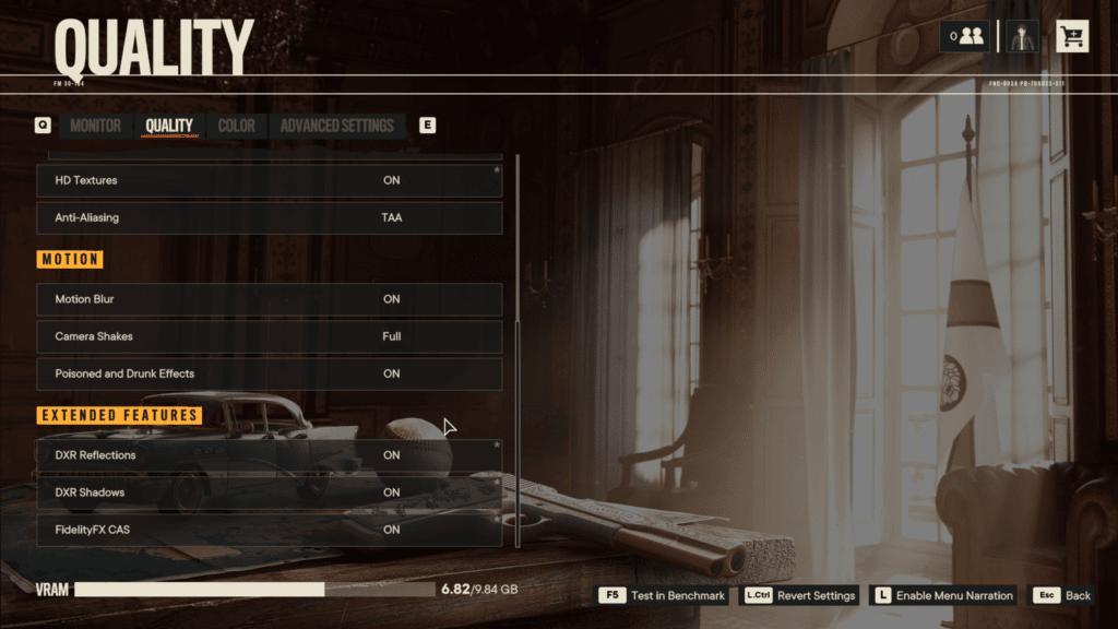 Far Cry 6 Maximum Game Settings VRAM Capacity Bar Graphics Menu